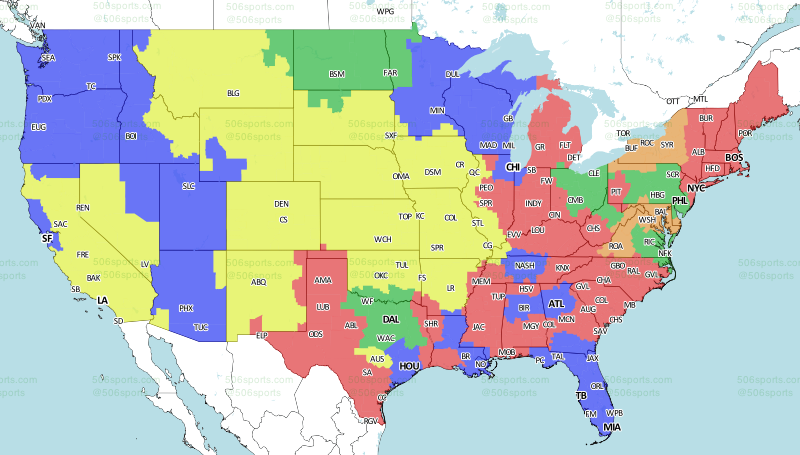 506 Sports - NFL Maps: Week 1, 2016 on