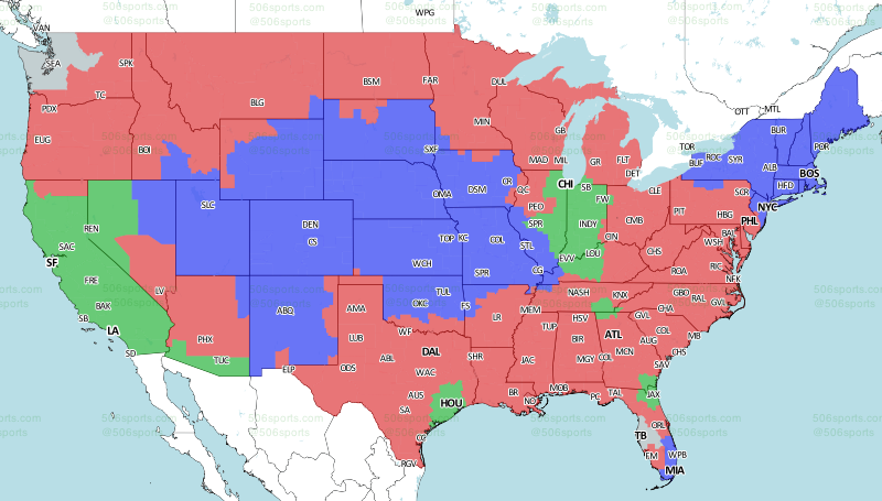 Nfl Tv Schedule And Broadcast Map Week 3
