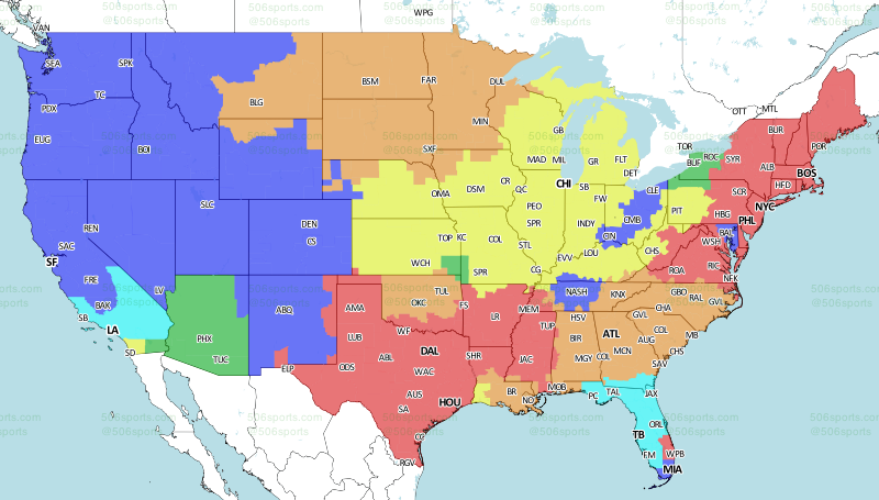 64c519ca NFL TV Schedule and Broadcast Map: Week 3