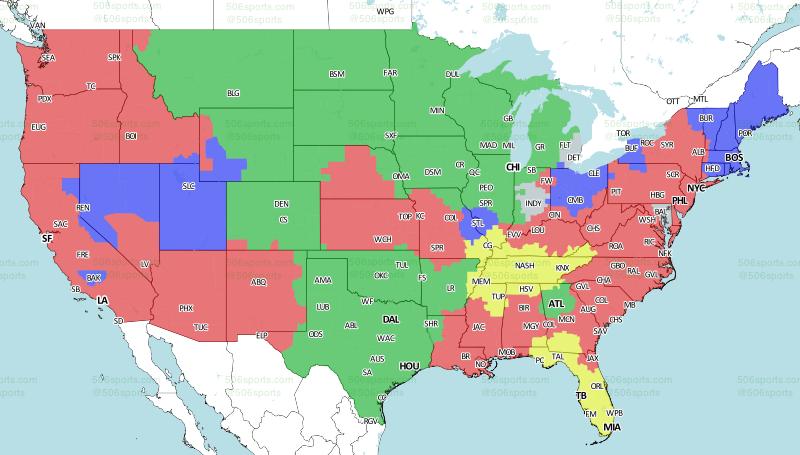 nfl coverage map week 5 nfl