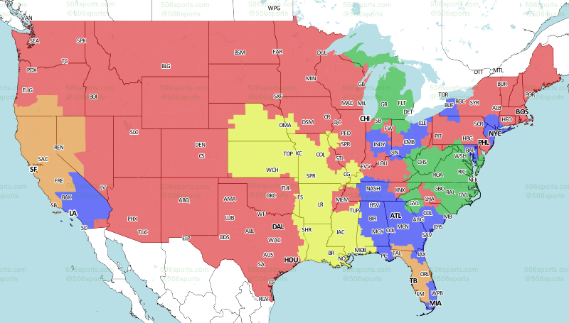 34d6b7c2 NFL TV Schedule and Broadcast Map: Week 7