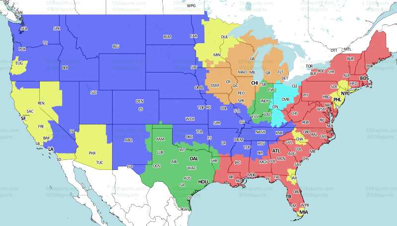 506 sports nfl maps week 14 2016 nfl tv schedule and maps week 14 2016 publicscrutiny Image collections