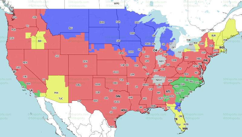 Nfl week 14 tv schedule and broadcast maps fox early gumiabroncs Gallery