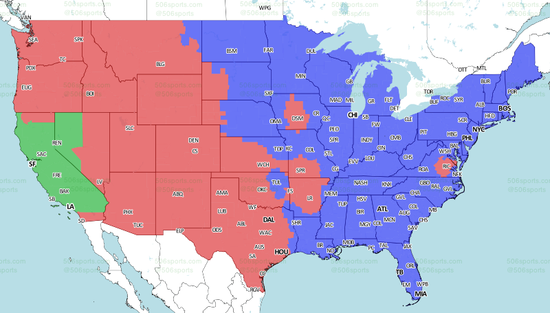 Nfl Tv Schedule Coverage Maps For Week 16
