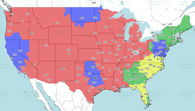 506 sports nfl maps week 8 2017 fox early publicscrutiny Image collections