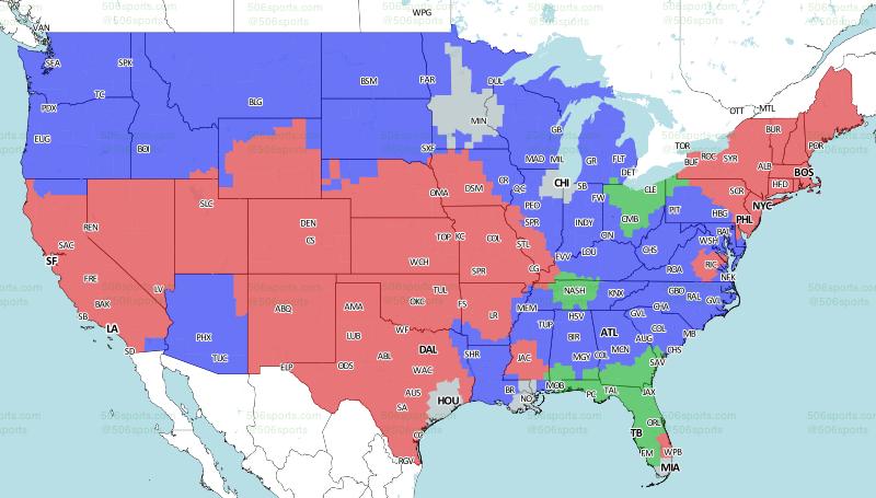 506 Sports - NFL Maps: Week 11, 2017