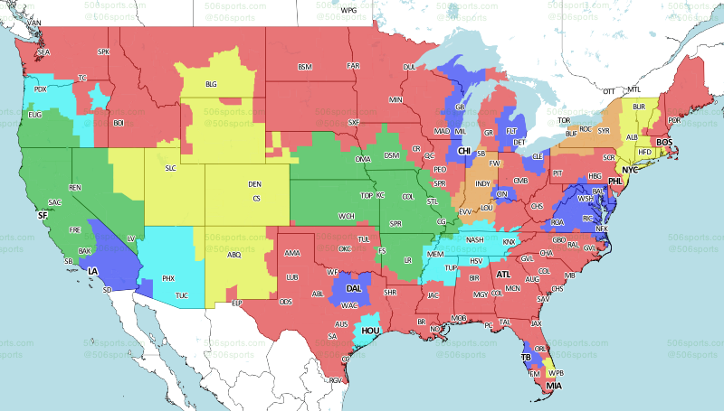 506 Sports - NFL Maps: Week 14, 2017