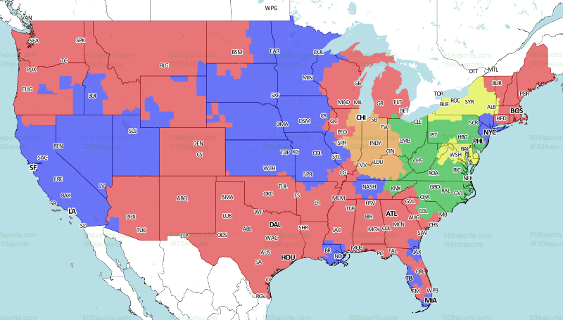 506 Sports - NFL Maps: Week 1, 2018 on