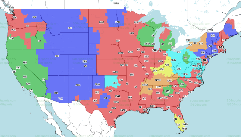 506 Sports - NFL Maps: Week 5, 2018 on