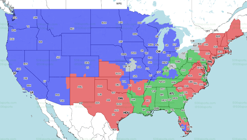 NFL Week 5 2018: Broadcast map for the entire country