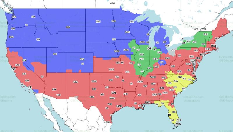 506 Sports - NFL Maps: Week 9, 2018
