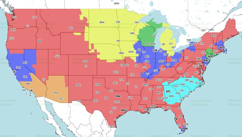 This weeks NFL TV map   Dallas Cowboys Forum - CowboysZone.com
