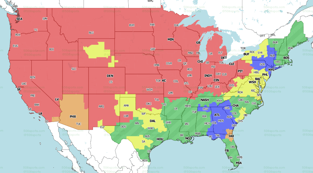 NFL on Fox Week 3 Early Games  TV Map 2021