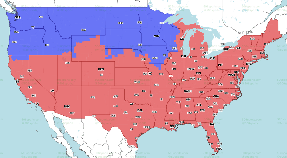 NFL on Fox Week 3 Late Games  TV Map 2021