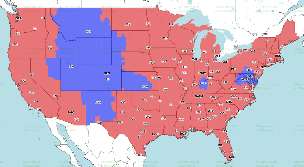 NFL on CBS Late Games TV Map 2021