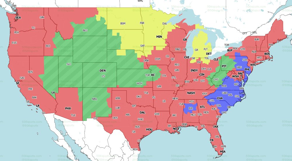 2021 NFL on Fox TV Map week 5 Early games